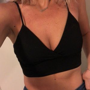 Tops - Black crop top